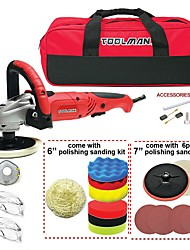 cheap -Toolman 22pcs Electric Polisher with Hook and Loop Sandpaper with Safety goggle