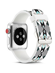 cheap -Geometric Smartwatch Band for Apple Watch Series 4/3/2/1 Silicone Classic Buckle iwatch Strap