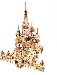 abordables -Puzzles en bois Jeux de Logique & Casse-tête Architecture Bâtiment Célèbre Eglise Fait à la main Interaction parent-enfant En bois 1 pcs Enfant Adulte Tous Jouet Cadeau
