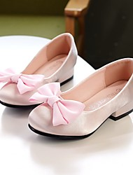 cheap -Girls' Flower Girl Shoes / Tiny Heels for Teens Satin Heels Toddler(9m-4ys) / Little Kids(4-7ys) / Big Kids(7years +) Bowknot Light Pink / Champagne / Ivory Summer / Fall / Wedding / Party & Evening