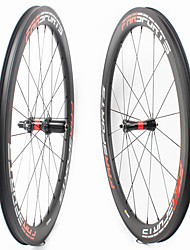 cheap -FARSPORTS 700CC Wheelsets Cycling 25 mm Road Bike Carbon Fiber Clincher / Tubeless Compatible 20/24 Spokes 50 mm