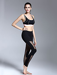 cheap -Women's Yoga Pants Fashion Mesh Lycra Running Dance Fitness Tights Activewear Breathable Quick Dry Soft Stretchy Skinny