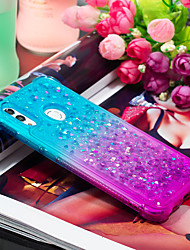 cheap -Case For Huawei Huawei P Smart 2019 Shockproof / Flowing Liquid Back Cover Color Gradient Soft TPU