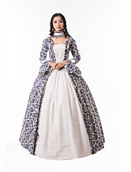 cheap -Princess Maria Antonietta Floral Style Rococo Victorian Renaissance Dress Party Costume Masquerade Women's Lace Costume White Vintage Cosplay Christmas Halloween Party / Evening 3/4 Length Sleeve