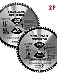abordables -lame de scie circulaire 12 x1 60t 80t 2 pcs pour dewalt& table de pointe en carbure de makita