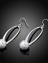 cheap -Women's Drop Earrings Dangle Earrings Hollow Out Stylish Simple Silver Plated Earrings Jewelry Silver For Daily Work 1 Pair
