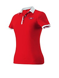 cheap -Women's Girls' Female 1pc Tee / T-shirt Polos Shirt Short Sleeve Golf Leisure Sports Outdoor Exercise Outdoor Workout Athleisure Outdoor Summer / Cotton / Micro-elastic / Breathable / Solid Color