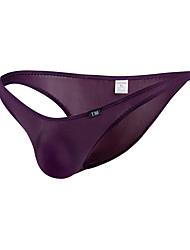 abordables -Homme Basique Slips 1 Pièce Taille basse Noir Blanche Violet M L XL