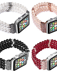 cheap -Jewelry Four Rows of Pearl Strap  for Apple Watch Series Smart Watch Series 4/3/2/1 Wrist Band Iwatch