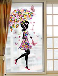 Недорогие -Оконная пленка и наклейки Украшение Современный Цветы ПВХ Стикер на окна / Антибликовая
