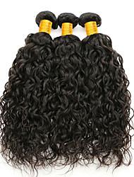 cheap -3 Bundles Brazilian Hair Water Wave Unprocessed Human Hair Natural Color Hair Weaves / Hair Bulk Human Hair Extensions 8-28 inch Natural Color Human Hair Weaves Safety Hot Sale Thick Human Hair