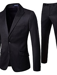 cheap -Men's EU / US Size Suits Shawl Lapel Polyester Black