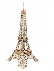cheap -Wooden Puzzle Logic & Puzzle Toy Tower Famous buildings Eiffel Tower Hand-made Parent-Child Interaction Wooden 1 pcs Kid's Adults' Toy Gift