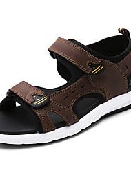 cheap -Women's Sandals Flat Heel Cowhide Classic / Vintage Fall / Spring & Summer Black / Coffee