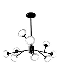 cheap -ZHISHU 9-Light 110 cm WIFI Control Chandelier Metal Glass Sputnik Industrial Painted Finishes Contemporary Chic & Modern 110-120V 220-240V