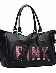 Недорогие -Водонепроницаемость PU Молнии Дорожная сумка Сплошной цвет Тренировочные Черный