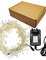 cheap -Hand made 2m 500 LEDs Firecrack LED Fairy String Lights 12V Silver Wire Multi Color / White / Warm White Party / Holiday / Wedding / Home Decor With adapter
