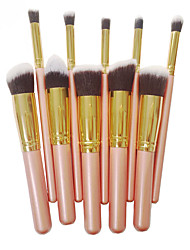 cheap -Professional Makeup Brushes 10pcs Full Coverage Comfy Artificial Fibre Brush Wooden / Bamboo for Makeup Brush
