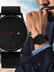 Недорогие -Муж. Спортивные часы Кварцевый Кожа Черный / Коричневый 30 m Календарь Новый дизайн Повседневные часы Аналоговый На каждый день Мода - Черный Черный / коричневый Коричневый / Один год