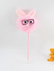 abordables -plastique plastique chat chat cheveux boule bleu crayon plomb bille artisanat cadeaux pour enfants apprenant papeterie de bureau