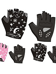cheap -Bike Gloves / Cycling Gloves Breathable Anti-Shake / Damping Skidproof Wicking Fingerless Gloves Sports Gloves Mesh Pink Black for Kids Road Cycling Outdoor Exercise Cycling / Bike