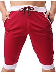 cheap -Men's Basic Chinos Pants - Multi Color / Color Block Navy Blue Yellow Light Blue L XL XXL