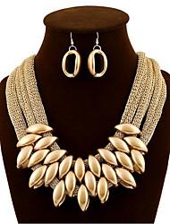 cheap -Women's Drop Earrings Necklace Oversized Earrings Jewelry Gold For Festival 1 set