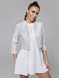 cheap -3/4 Length Sleeve Shrugs Satin Wedding / Party / Evening Women's Wrap With Split Joint