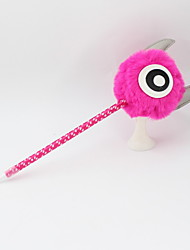 Недорогие -пластиковый шарик для волос вол рога синий карандаш ведущий шариковая ремесло подарки для детей, обучающихся офис канцтовары