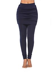 cheap -Women's High Rise Yoga Pants Fashion Elastane Running Dance Fitness Tights Leggings Bottoms Activewear Moisture Wicking Butt Lift Tummy Control Power Flex High Elasticity Skinny / Camo / Camouflage
