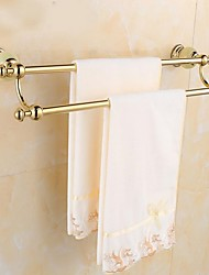 cheap -Jade Double Towel Bar rack antique brass copper wall mounted
