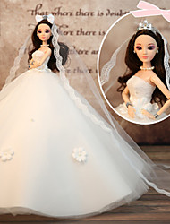 cheap -Wedding Dress Party / Evening Wedding Ball Gown Lace Tulle Lace Satin For 11.5 Inch Doll Handmade Toy for Girl's Birthday Gifts  Doll Not Included