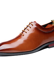 cheap -Men's Dress Shoes Spring / Summer Business / Classic Daily Party & Evening Office & Career Oxfords Faux Leather Non-slipping Wear Proof Black / Yellow / Burgundy Gradient