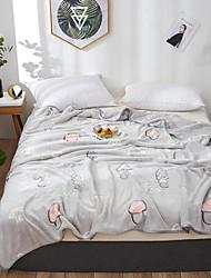Недорогие -Многофункциональные одеяла, Мультипликация / Классика / Фрукты Фланель Флис Обогреватель Мягкость удобный одеяла