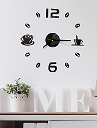 cheap -Modern Contemporary / Fashion Acrylic Round Classic Theme Indoor Battery Decoration Wall Clock Yes Black No