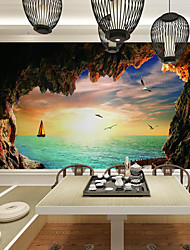 cheap -Wallpaper / Mural / Wall Cloth Canvas Wall Covering - Adhesive required Pattern / 3D / Landscape