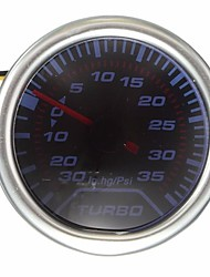 cheap -52mm Universal Blue LED Pointer Turbo Boost Gauge Meter PSI Smoke Tint Len