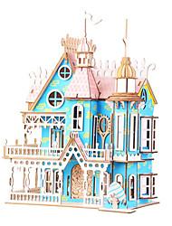 abordables -Puzzles en bois Jeux de Logique & Casse-tête Architecture Maison Villa Fait à la main Interaction parent-enfant En bois 1 pcs Enfant Adulte Tous Jouet Cadeau