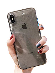 cheap -Case For Apple iPhone XR / iPhone XS Max Glitter Shine / Transparent Back Cover Solid Colored Soft TPU for iPhone X XS 8 8PLUS 7 7PLUS 6 6PLUS 6S 6S PLUS