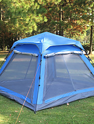 cheap -4 person Screen Tent Screen House Outdoor Waterproof UV Protection Single Layered Poled Dome Camping Tent for Camping Traveling