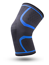 cheap -Knee Brace for Running Camping / Hiking Hiking Elastic Protection Breathable Nylon Emulsion Spandex Fabric 1 Sports Outdoor Athletic Black Red Blue