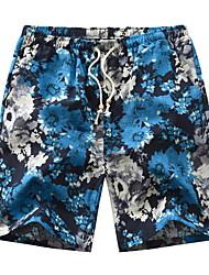 cheap -Men's Street chic Shorts Pants - Print Navy Blue Army Green Royal Blue L XL XXL