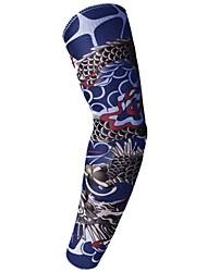 cheap -1pc Cycling Sleeves Sun Sleeves Compression Sleeves Pattern 3D Tattoo Printed Fashion UPF 50 Sunscreen UV Resistant Bike Dark Grey Red+Brown Brown+Gray Spandex for Unisex Adults' Outdoor Exercise