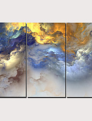 cheap -Print Stretched Canvas Prints - Abstract Traditional Modern Three Panels Art Prints