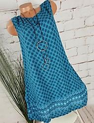 cheap -Women's Shirt Dress Polka Dots Fashion V Neck Spring Black Wine Light Blue S M L XL