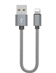 cheap -Lightning Adapter / Cable 0.2m(0.65Ft) Braided / Quick Charge Aluminum USB Cable Adapter For iPhone