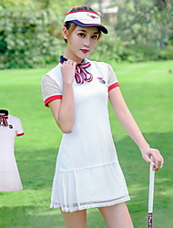 cheap -PGM Women's Dress Short Sleeve Tennis Golf Running Athleisure Outdoor Autumn / Fall Spring Summer / Mesh / Stretchy / Quick Dry / Moisture Wicking / Breathable