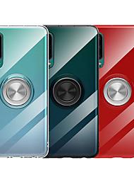 abordables -Coque Pour Huawei Huawei P20 / Huawei P20 Pro / Huawei P20 lite Avec Support / Anneau de Maintien / Transparente Coque Couleur Pleine Flexible TPU / Métal