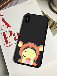 cheap -Case For iPhone XS Max 8 Plus Back Case Soft Cover TPU Fashion simple style cute little monkey Soft TPU for iPhone X 7 Plus 7 6 Plus 6 5 SE 5S 5 8 XR XS