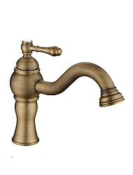 cheap -Bathroom Sink Faucet - Widespread Antique Copper / Gold / Rose Gold Other Single Handle One HoleBath Taps / Brass